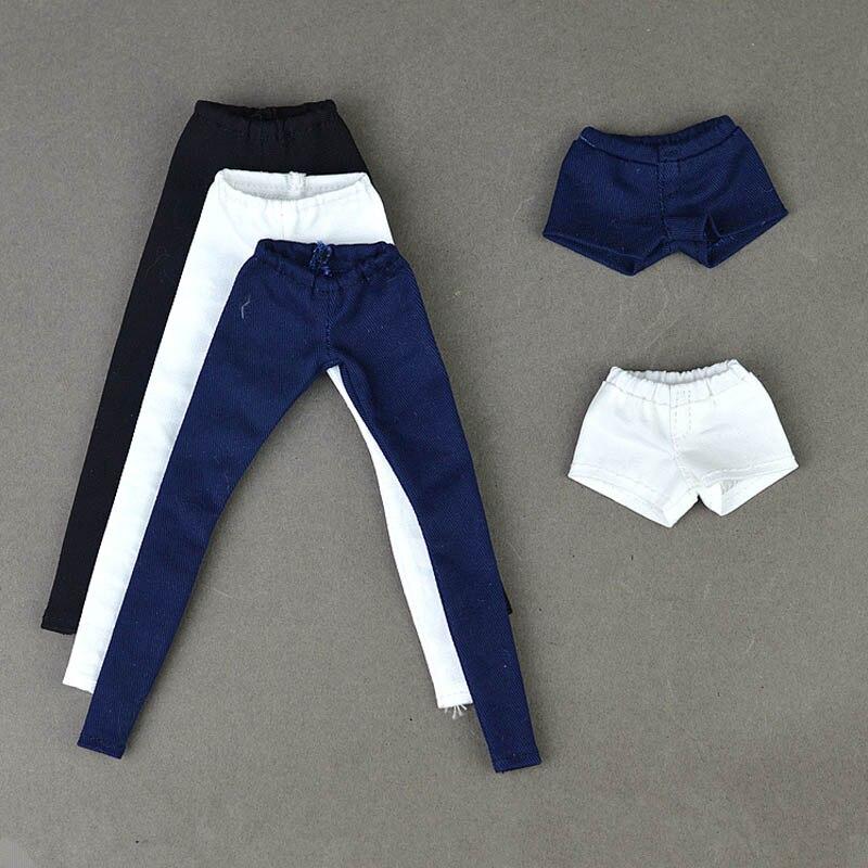 Alta qualidade calças de moletom elástico calças compridas para barbie boneca roupas moda shorts para 1/6 bjd bonecas acessórios
