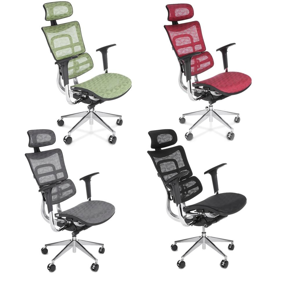 Ikayaa Us Stock Mesh Ergonomic Office Chair Swivel Executive Computer Lumbar Support Tilt Slide Headrest P Ansi Bifma In Chairs From
