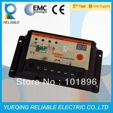 Надежный PWM 10A 12 V/24 V автоматический Солнечный контроллер заряда светодиодный дисплей для солнечной системы