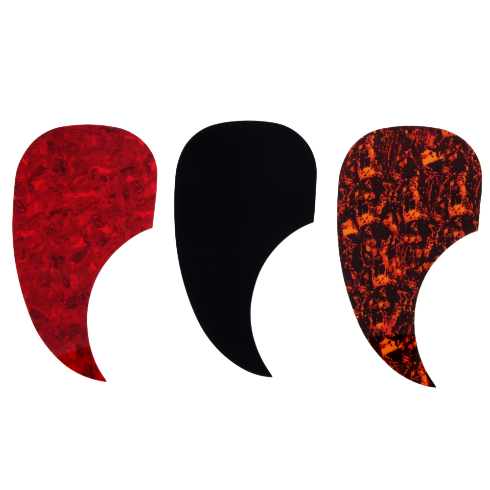 3 pcs/lot Drop Shape Right Handed Acoustic Guitar Pickguard Pick Guard Self-adhesive Scratch Plate For 40  41  guitar amumu traditional weaving patterns cotton guitar strap for classical acoustic folk guitar guitar belt s113