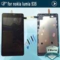 Para a microsoft para nokia lumia 535 screen display lcd de toque digitador com moldura de montagem completa 1973 1607 versão + ferramentas