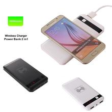 Qi Wireless Charger Power Bank 5000mAh Ultra Slim Powerbank External Battery Charger for SAMSUNG GALAXY S6 for iPhone 6 6plus