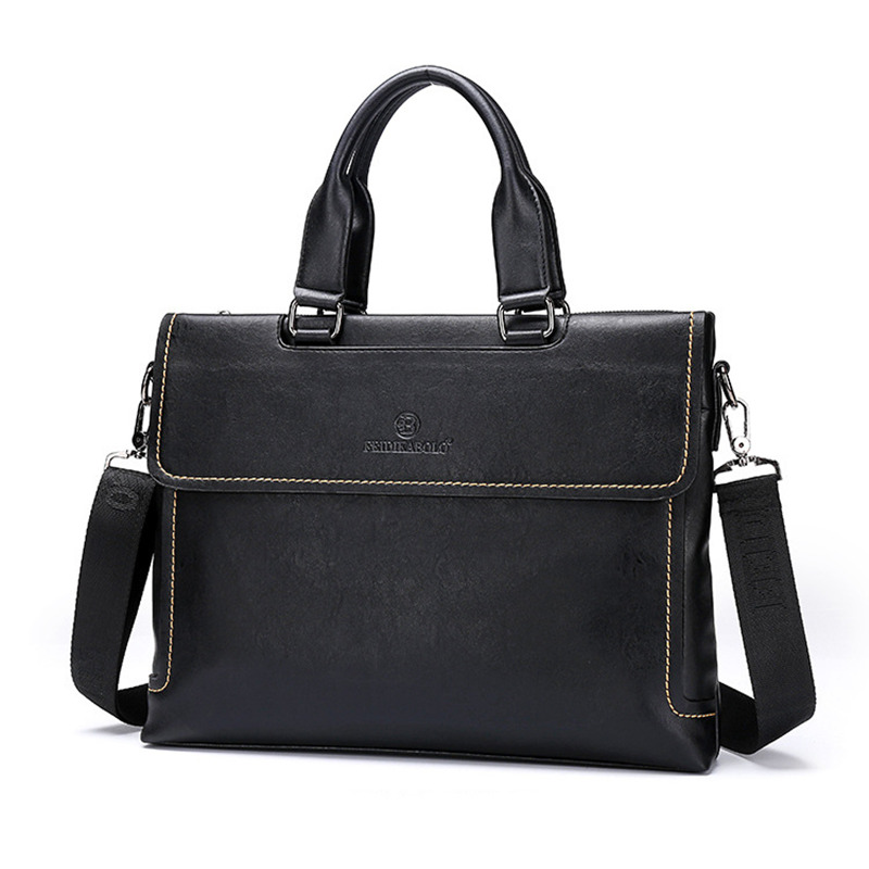 Фотография Portable KUMON  Genuine Leather Laptop Messenger men bag Business 2016 Tablet Travel Fashion Casual Handbag
