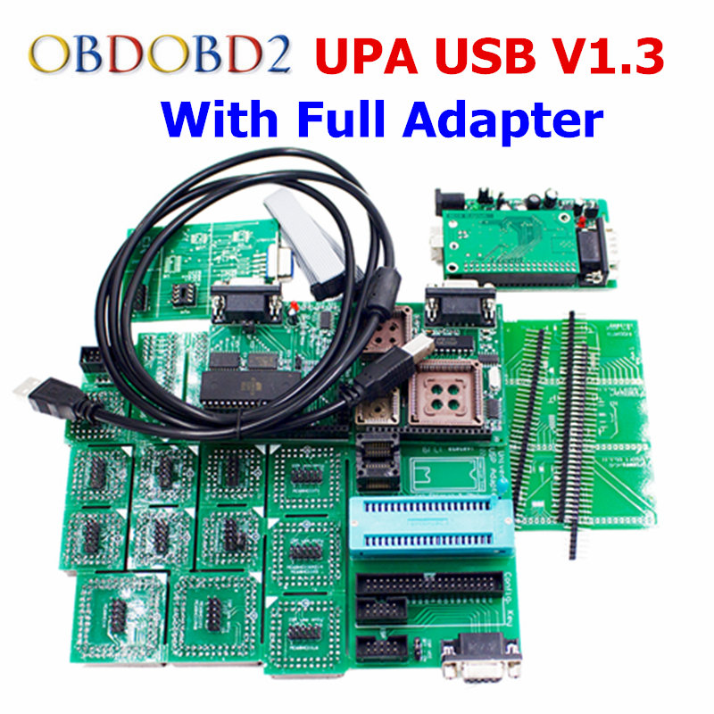Green Adapter UPA USB Serial Programmer V1.3 Full Sets Auto ECU Chip Tuning Programmer EEPROM UUPROG V1.3.0.14 OBD2 ECU Adapters мозаика синтез сказки к и чуковского тараканище