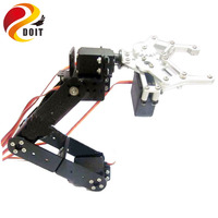 Original DOIT 5DOF Robot Arm A Full Set Of Aluminum Robot Arm Servos Bracket And 1