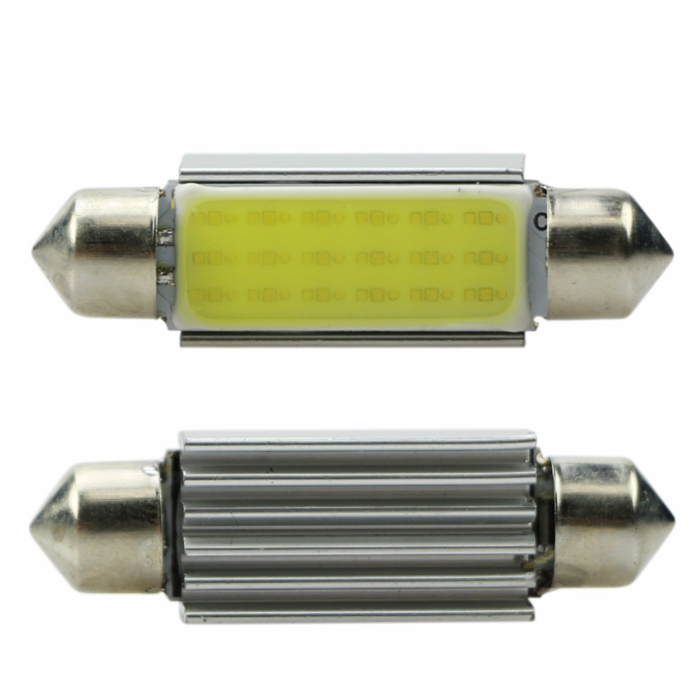 Hot 1x 42mm WHITE Festoon CANBUS PLASMA COB 18LED interior SMD bulbs 12V