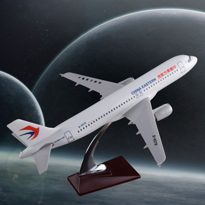 37cm A320 New China Eastern Airlines Plane Model Resin New Eastern Airways Airbus Model Eastern A320 Aircraft Aviation Model Toy phoenix 10596 a330 200 b 6538 chinese eastern airlines skyteam no 1 400 commercial jetliners plane model hobby