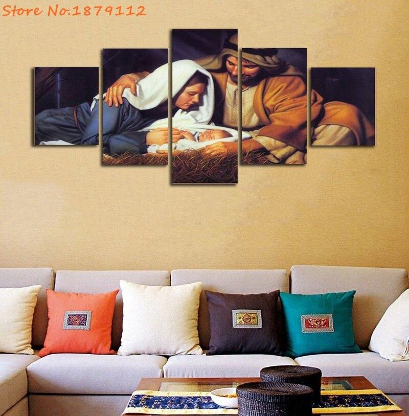 Der Geburt von Jesus 5 Stücke Gemälde Leinwand Poster Gerahmte ...