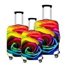 """Modes ceļojuma kofera vāciņš 18-28 """"ratiņu ritošā bagāžas soma Rose drukā pārnēsājamo čemodānu aizsargvāciņus"""