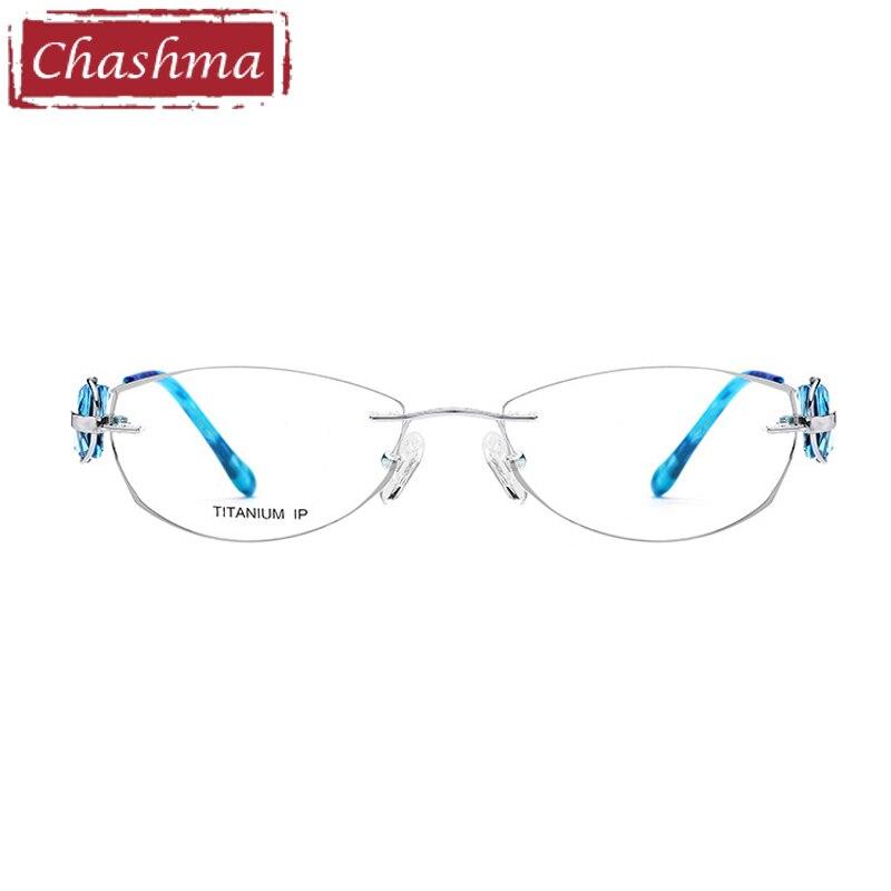 Optische Qualität Frauen Brillen Für Brille Licht Randlose Super Chashma Silber Marke Rahmen Gläser Mode Titan xYwqOag5R