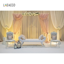 Laeacco Wedding Photocall Curtain Sofa Flowers Love Photography Backdrops Interior Photographic Backgrounds for Photo Studio
