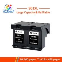 Hisaint 2 шт. заменяемая 901 XL черный картридж с чернилами для hp Officejet 4500 J4500 J4525 J4540 J4550 J4580 J4585 J4640 J4660