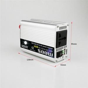 Image 5 - 500 واط سيارة العاكس 12 فولت إلى 220 فولت عاكس الطاقة 12 فولت 220 فولت العاكس محول إمداد الطاقة النقال شاحن يو اس بي