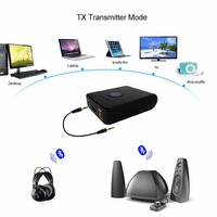 Multi Point Bluetooth Wireless Transmitter Receiver 3 5mm Stereo Audio Adapter For Smart Phone TV Computer