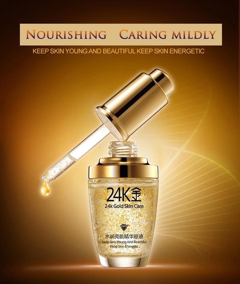24 k BIOAQUA 24K Gold Face Cream Whitening Moisturizing 24 K Gold Day Creams & Moisturizers 24K Gold Essence Serum New Face Skin Care07