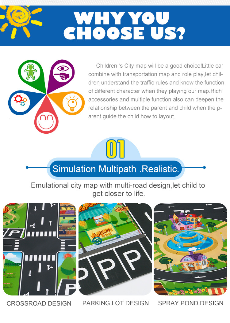 HTB1EEBSccyYBuNkSnfoq6AWgVXaF 39Pcs City Map Car Toys Model Crawling Mat Game Pad for Children Interactive Play House Toys (28Pc Road Sign+10Pc Car+1Pc Map)