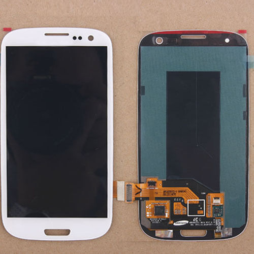 White Color For Samsung Galaxy S3 III S3 i9300 i9305 i747 T999 i535 LCD +Touch Display Lens Digitizer Screen Assembly