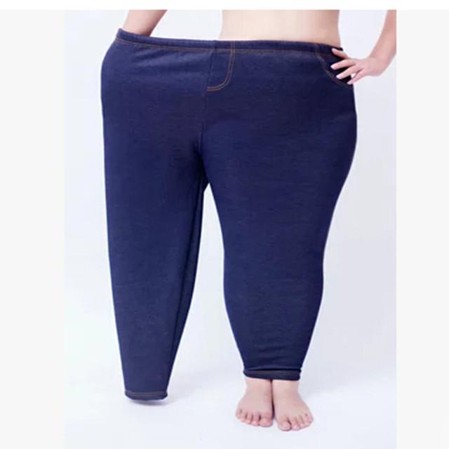 Plus Size Leggings Mulheres Inverno Quente Engrosse Polares Legging Moda Sólidos Calças Lápis Feminino Calças Casuais P8215