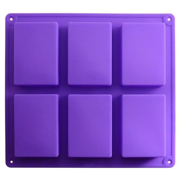 <font><b>Hot</b></font> <font><b>Sale</b></font> 6-Cavity Purple <font><b>Cake</b></font> Mold Soap Flexible <font><b>Silicone</b></font> Mould Baking Tools For Candy Chocolate Fandant <font><b>Cupcake</b></font> <font><b>High</b></font> <font><b>Quality</b></font>