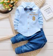 Children Clothing Set 2019 Spring Costume for Kids Baby Clothes Toddler Child Shirt+pant 2PCS/set Suit 1 2 3 4 QHQ032