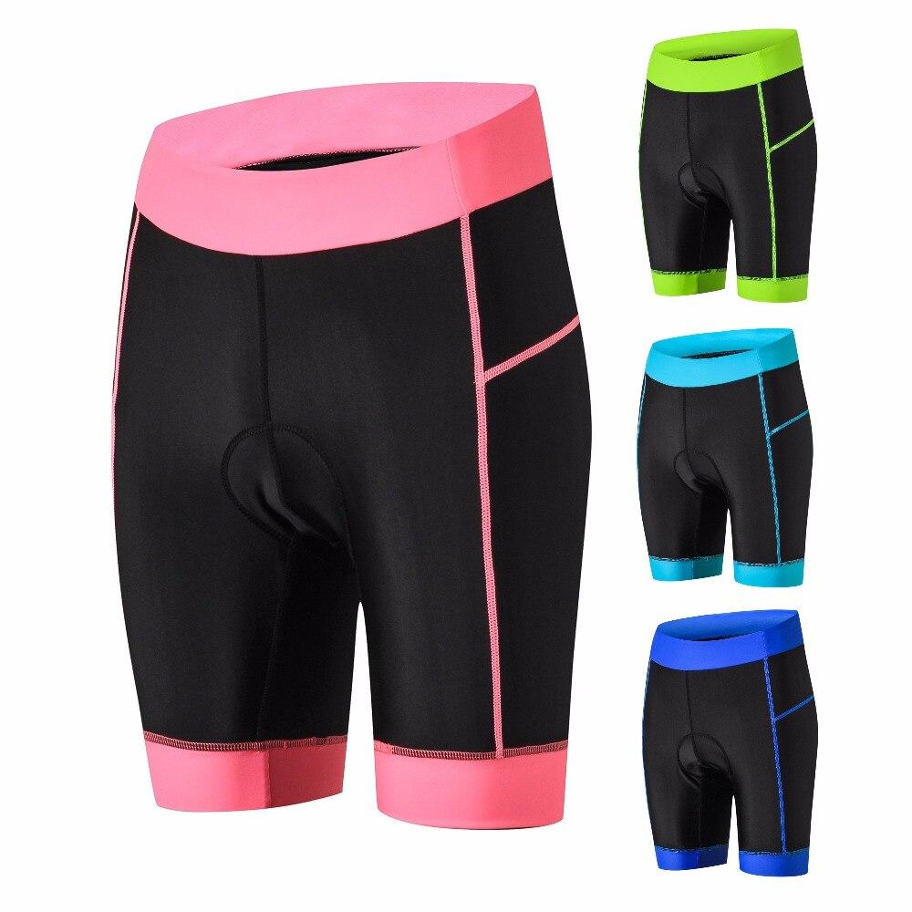 Calções de ciclismo MTB Mountian Bicicleta Shorts Road Bike Shorts de Ciclismo Mulheres À Prova de Choque 4D Coolmax Acolchoado