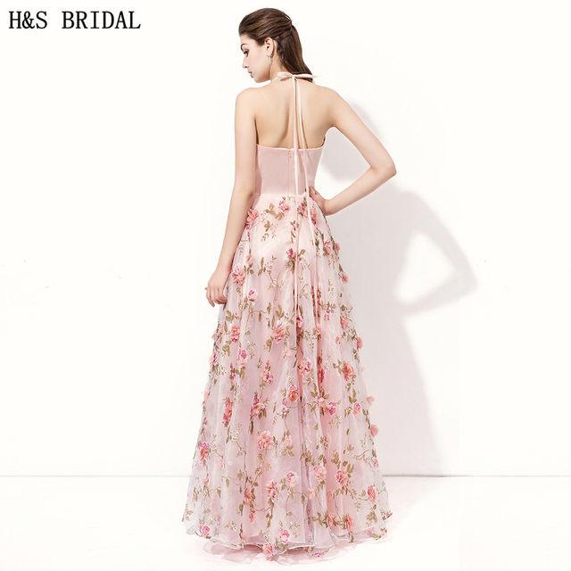 Online-Shop H & Bridal A-linie Rosa formale abendkleider kleider ...
