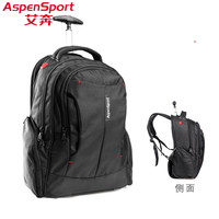 Aspensport Laptop Trolley Backpack Travel Business Waterproof Bag Draw Bar Box Computer Backpacks 18 Unique Quality