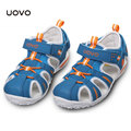 Crianças UOVO praia Hot Shoes meninos do verão sandálias Zapatos plano couro espaço criança chinelos EU Size24-38 Flip Flops crianças sapatos de praia