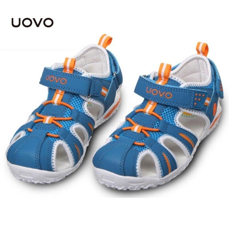 c606819a39d2 Enfants chaussures de plage chaud UOVO été garçons sandales Zapatos espace  plat en cuir enfant pantoufles