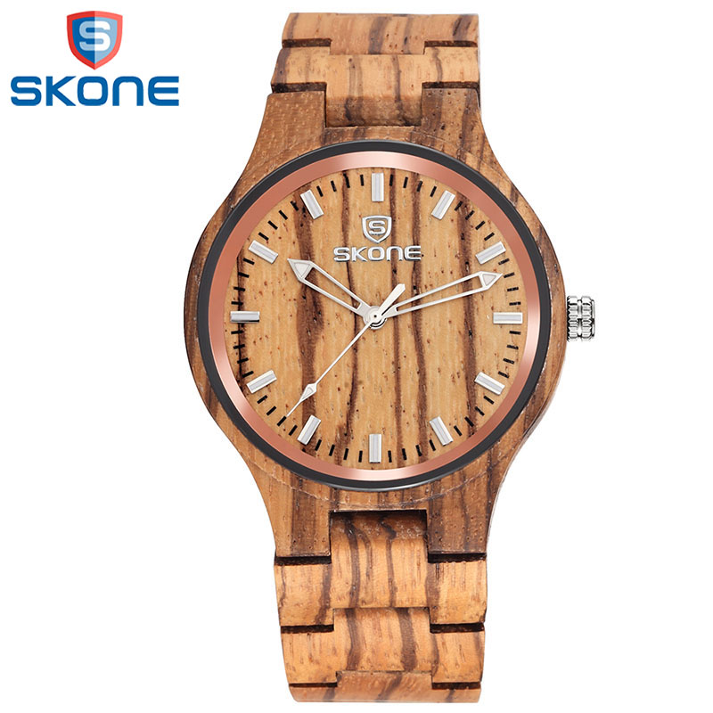 SKONE Business Wood Watch for Men Male Top Brand Genva Quartz Wristwatches Luxury Luminous Analog Wooden Watches Man skone brand men s bamboo watches women s wooden wristwatches unisex quartz watch luxury casual fashion relogios masculinos
