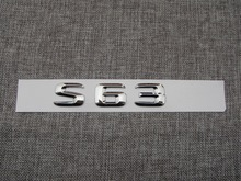 ABS Plastic Car Trunk Rear Letters Badge Emblem Decal Sticker for Mercedes Benz S Class S63