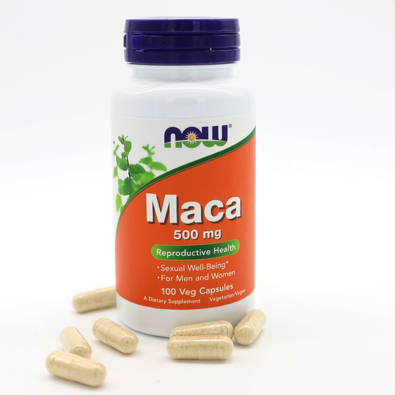 NOW Foods Maca 500mg, 100 Capsules now foods candida support 90 veg capsules free shipping