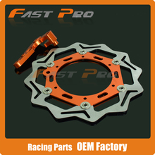 Cheaper 270MM Front Floating Brake Disc & Caliper Bracket Adapter for KTM XC200 XCW200 XC250 XCF250 XCW400 EXC XCF XCW 450 530 505
