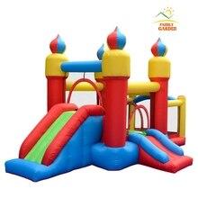 Детский надувной Moonwalk Bounce домашний джемпер прыгающий надувные замки с горкой и шаром бассейн баскетбольный обруч