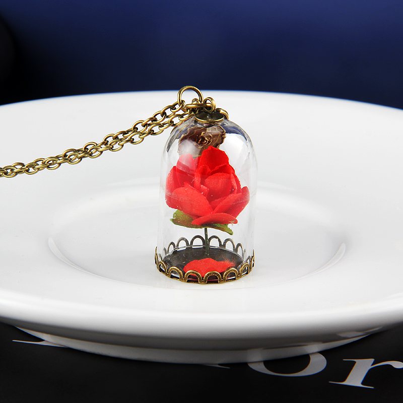 Guangrong Beauty And The Beast Enchanted Rose Flower In