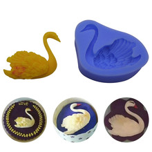 Красивый Лебедь плавающий помадка форма для украшения торта силиконовый набор для выпечки с шоколадом Плесень инструмент для дома DIY Прекрасный Лебедь Suger формы
