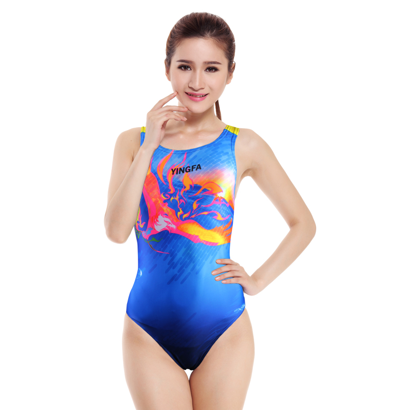 Yingfa 2107 Women Swimsuit Professional Swimwear Sexy Lady Bathing Suit Sports Racing Competition Tight Bodybuilding Swimming 2017 summer bikini suit fitness body wading sports swimsuit lady brand straight solid color tight swimsuit 40