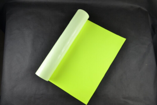 (0.5x5M) Neon Yellow 2.5 Square Meter of High Quality PU Heat Transfer Vinyl PU Film for T-shirts Iron on Vinyl NY612 0 5x25m neon yellow color heat transfer vinyl for fabric pu flex vinyl film for t shirts iron on vinyl