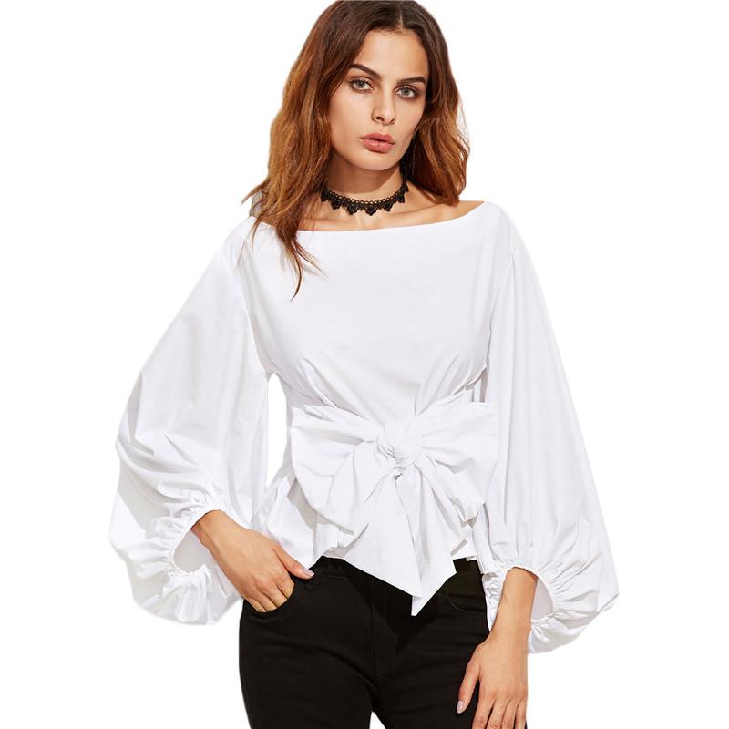 HTB1EECjNVXXXXbEaXXXq6xXFXXXX - Shirts Women Tops Long Sleeve Lantern Sleeve Blouse