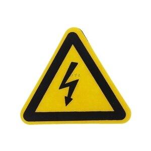 Image 5 - Etiquetas adhesivas de advertencia, aviso de peligro de choque eléctrico, seguridad, 25mm, 50mm, 100cm, PVC, resistente al agua