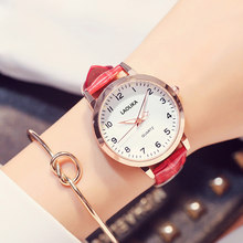 New 2019 Womens Watches Fashion Casual Simple Style Quartz Leather Strap Wristwatch Women Watch
