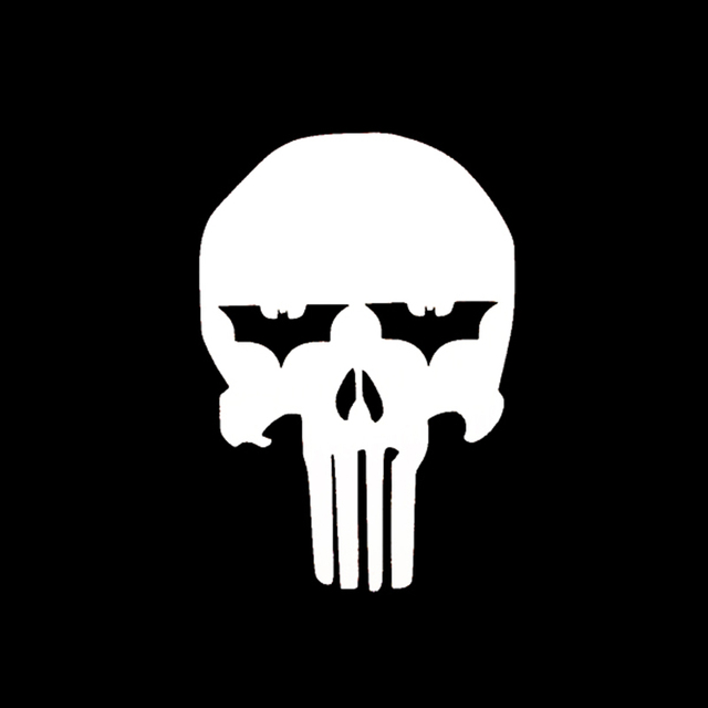 Punisher batman dark knight skull vinyl decal sticker car window truck bumper laptop locker glass