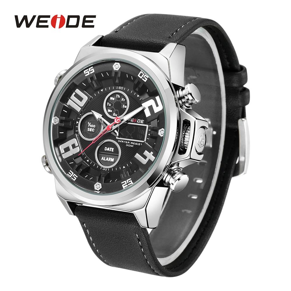 WEIDE Sports Quartz analogique montres numériques étanche affichage de la semaine homme armée militaire horloge Relogio Masculino montres-bracelets