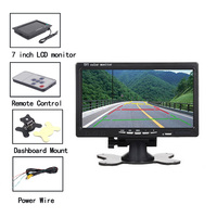 7inch TFT LCD Car Display Monitor Screen OSD Security Reversing Car Video Players with Remote Control Holder for Auto Parking