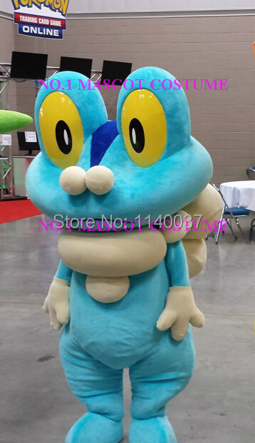 Mascotte Froakie mascotte costume poket monstre anime dessin animé personnage cosplay carnaval costume fantaisie robe