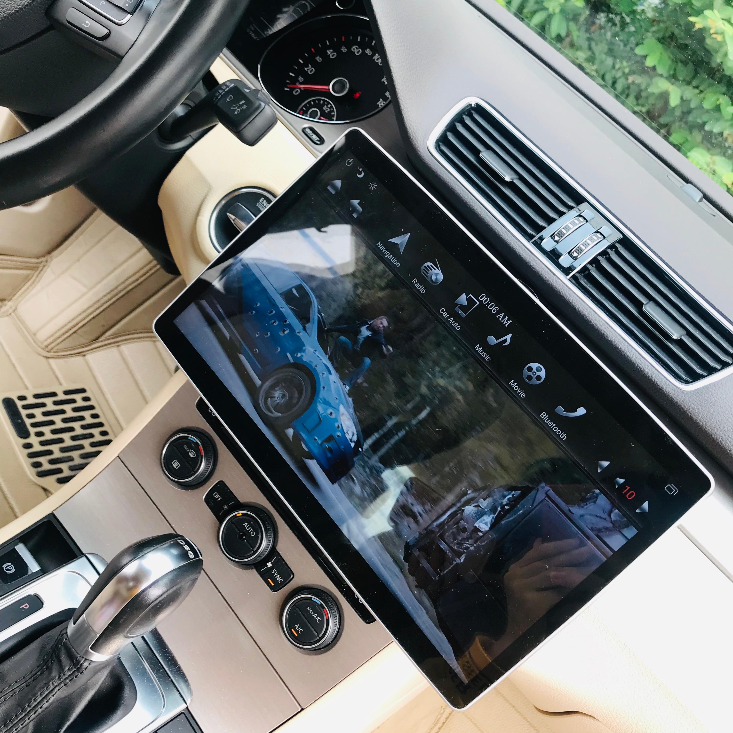 N1280 Navirider autoradio 6Core Rockchip PX6 Android 8.1 système GPS Navigation 100 ° rotation 12.8