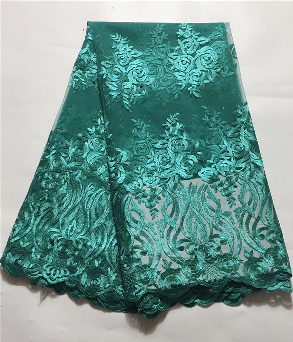 Hot Sale African Lace Fabric With green Stones 2019 Fashion French Lace Fabric Nigerian Fabric Bridal High Quality For Women(4Hot Sale African Lace Fabric With green Stones 2019 Fashion French Lace Fabric Nigerian Fabric Bridal High Quality For Women(4