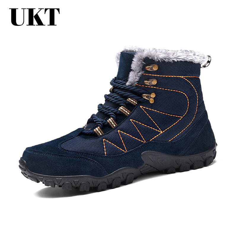 Hot Sale 2017 Winter Hiking Shoes Men Outdoor Boots Lace Up Warm Trekking Breathable Climbing for