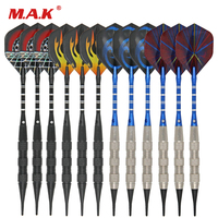 New 12 pcs/lot Soft Tip Soft Darts Electronic Target and 72 Pcs dart tip in Set for Indoor Game Activity (4 Set)