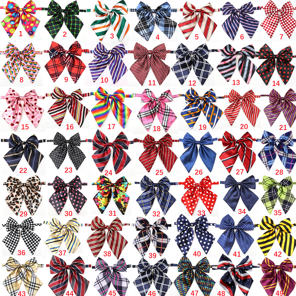 Wholesale 100pcs Dog Accessories Pet Supplies Pet Dog Bowtie Neckties Pet wedding decoration Dog Collar BowTie  50colours-in Dog Accessories from Home & Garden    2